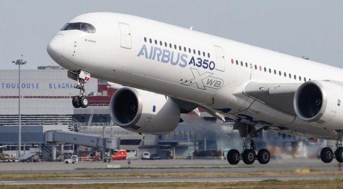 Entregas de Airbus aumentan en marzo haciendo que sus acciones suban