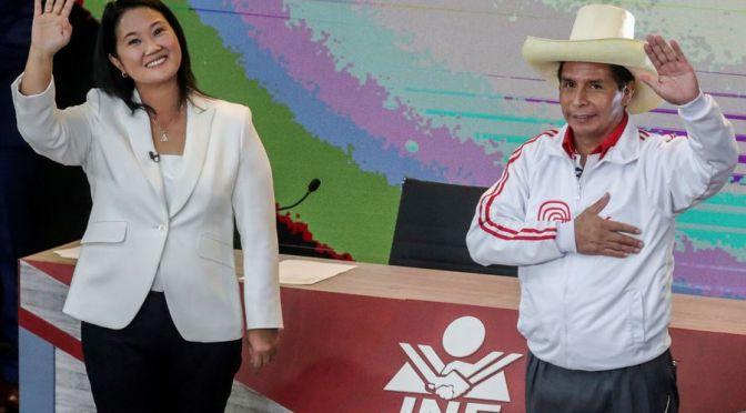 Pedro Castillo pierde fuerza en las encuestas y todo indica un final fotográfico contra Fujimori