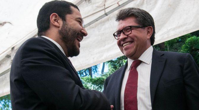 Felicita Monreal a Martí Batres por su nuevo encargo en el Gobierno de la CDMX