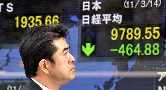 Índice Nikkei cae por cuarto día consecutivo