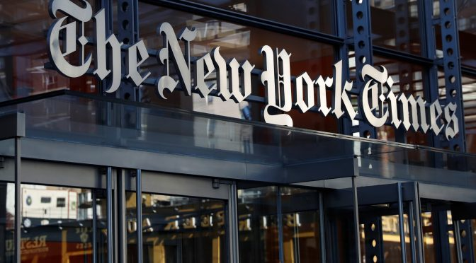 Crecimiento de la suscripción digital del New York Times se desacelera a su nivel más bajo en tres años