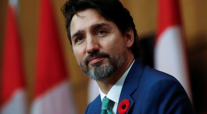 Trudeau reanuda campaña después manifestaciones