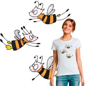 t-shirt femme Les abeilles illustration par Abi