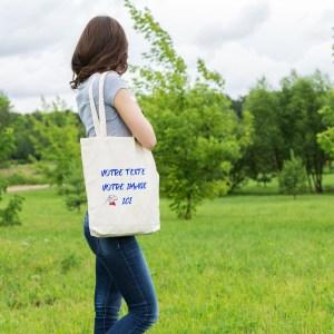 sac tote bag personnalisable, vous pouvez tout y imprimé, votre texte, votre photo, vos dessins, le logo de votre entreprise, le blason de la famille