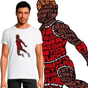T-shirt Homme Michael Jordan By KalliGram