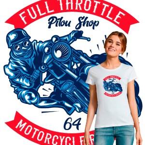 T-shirt femme motarde full throttle