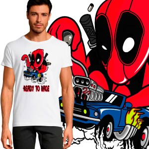 Tee shirt deadpool crossover hotwheels