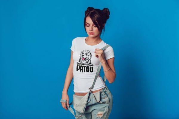 tee shirt coupe femme patou, chien de montagne des pyrénées, anti ours