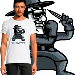 T-shirt homme motif Design-tee-shirt-V-comme-vendetta FIGHT