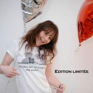 tee-shirt Femme edition limitée logo du groupe de la page Facebook Tu sais que tu viens de Pau quand en partenariat avec Mathilde LMD Duton une des premières influenceuse de France