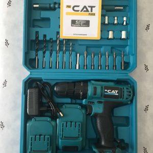 Cat Pro 24v Darbeli ve Takımlı Yeşil Şarjlı Matkap