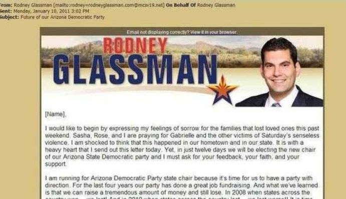 Rodney Glassman exploits Gabby Giffords