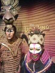 """Personagens do """"Rei Leão"""" musical da Broadway"""
