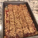 The finished product! Loved the way these guava crumble bars turned out.
