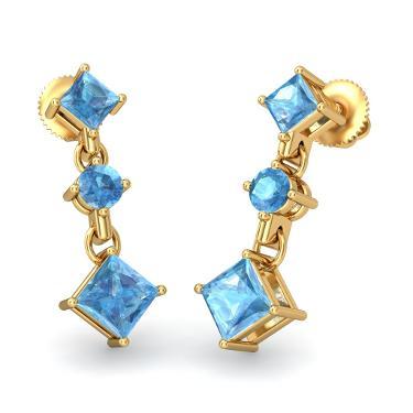 Blue Earrings for your sisters on Rakhi Festival