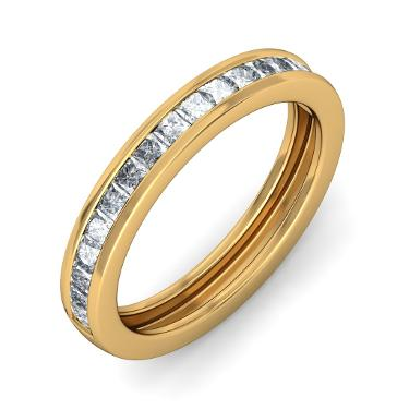 Gold Princess Cut Diamond Rings