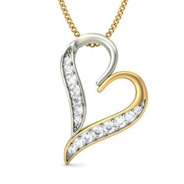 Heart Shape Pendants In Diamonds