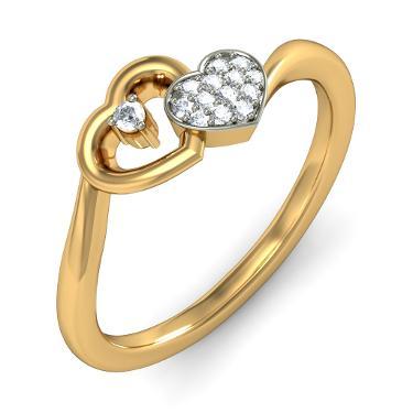 18K gold rings