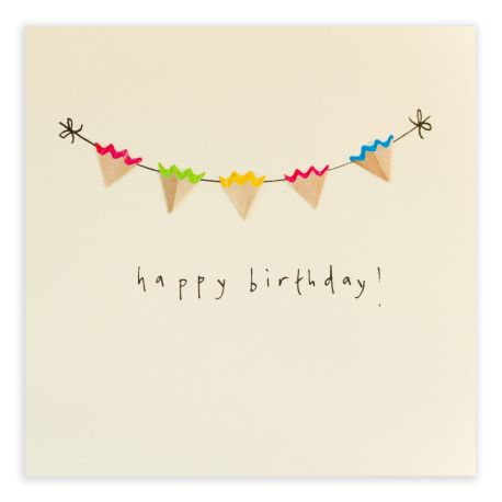 Pencil Shavings Cards – Birthday Bunting – S
