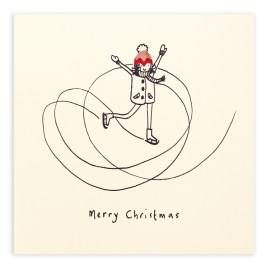 Ice Skater Pencil Shaving Card