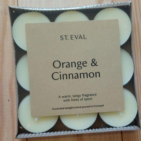 Orange & Cinnamon Tea Lights