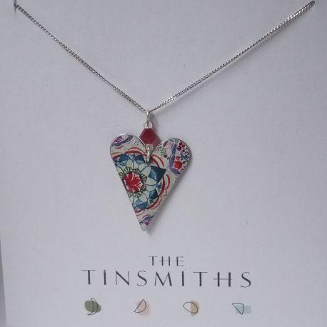 450 Lotus Slim Heart With Crystal-M