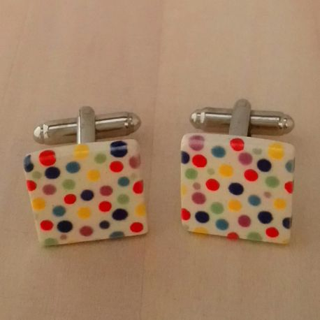 Multicoloured Dots Cufflinks
