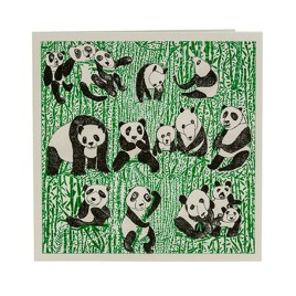Pandas Party Card