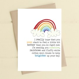 Rainbows & Cotton Wool Card