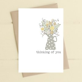 Thinking Of You Flower Jug Card