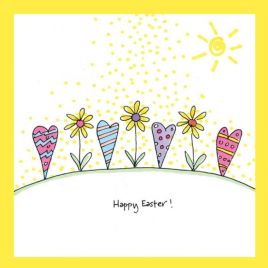Easter Flowers Card