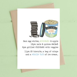 Ice Cream & Biscuits Card
