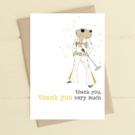 Elvis Thank You Card