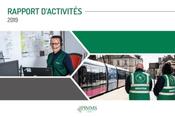 Page de garde du rapport d'activité 2019 du PIMMS de Dijon