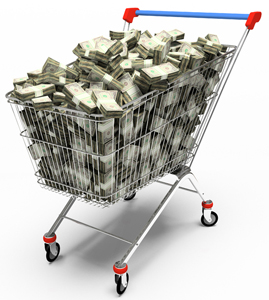 grocery-cart-money