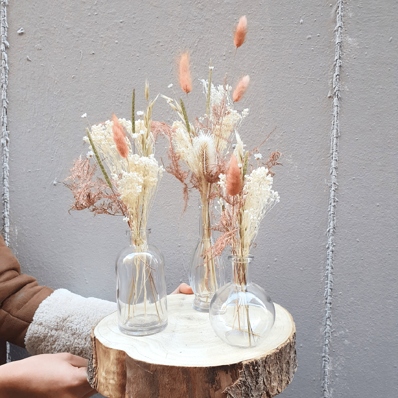 Baby bouquets + fioles – Christmas bellini