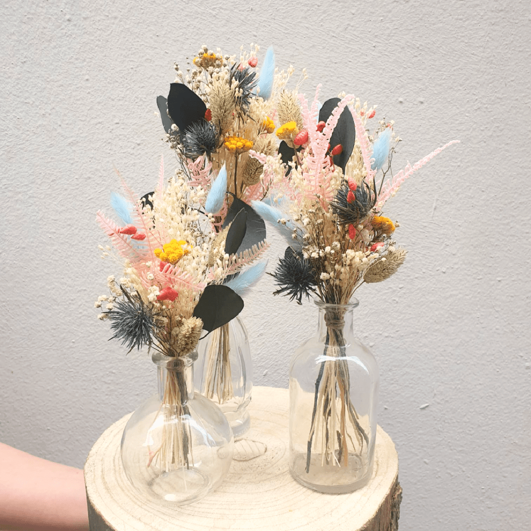 Baby bouquets + fioles – Bloomin spring
