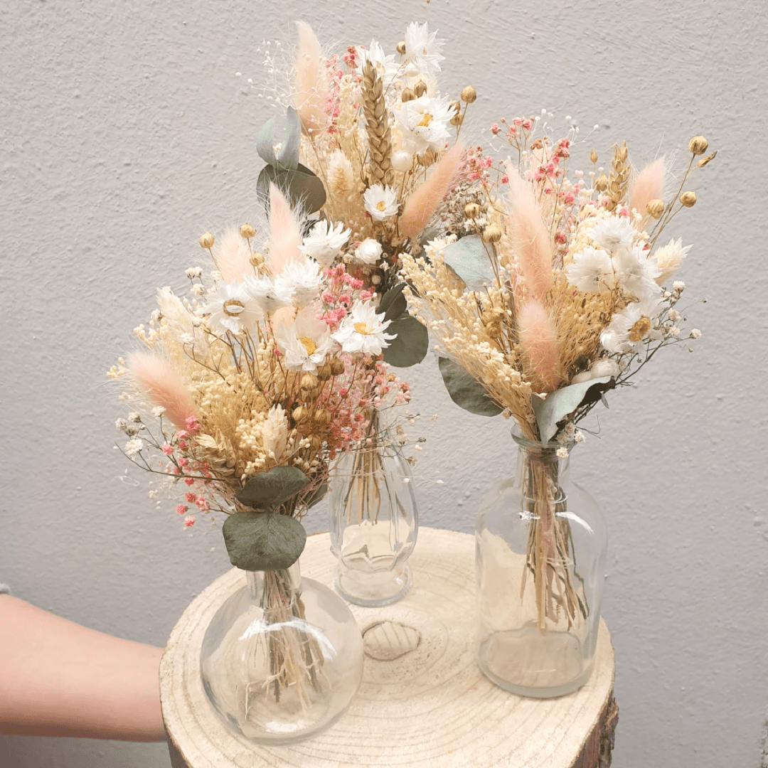 Baby bouquets + fioles – Mary's Rose
