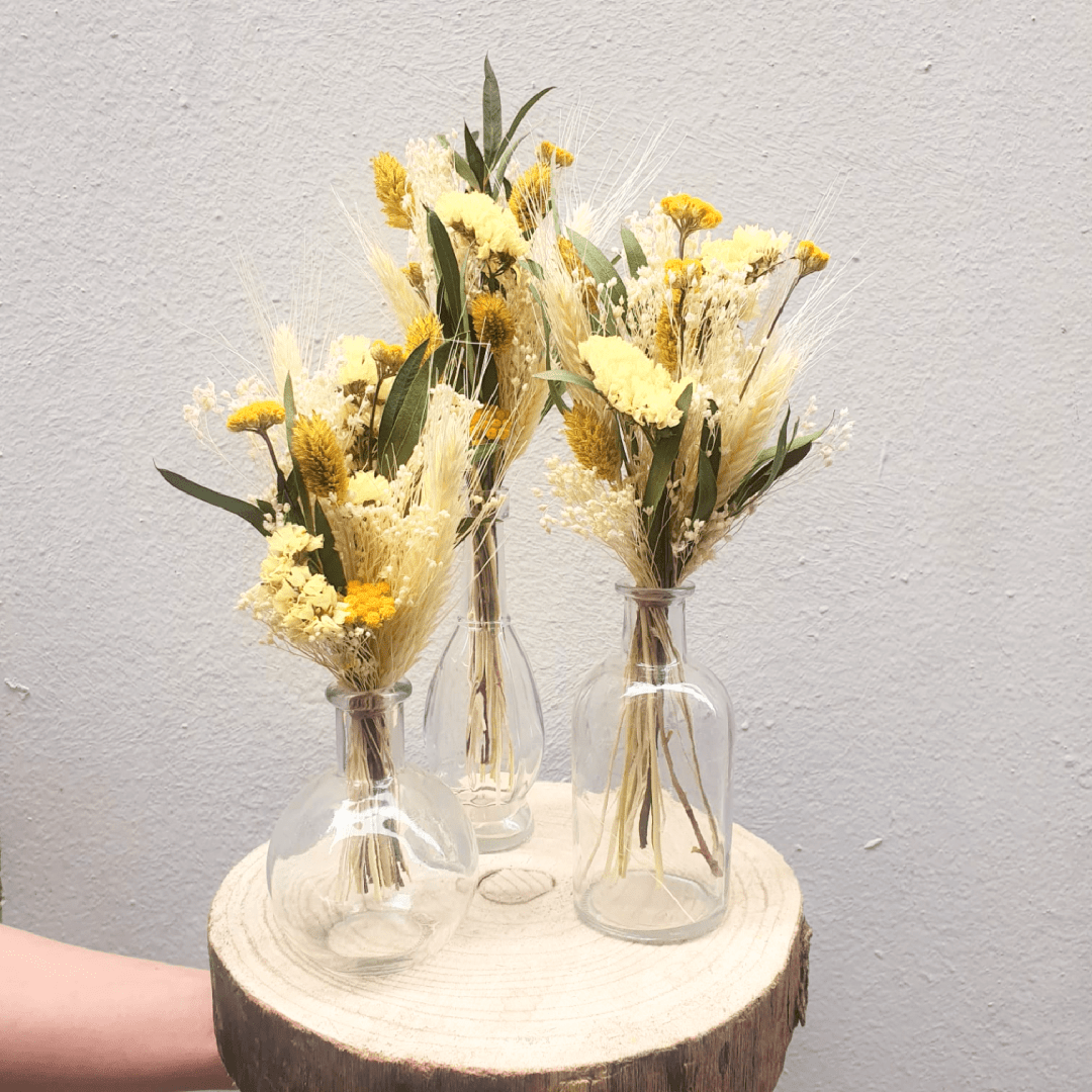 Baby bouquets + fioles – Sunlight