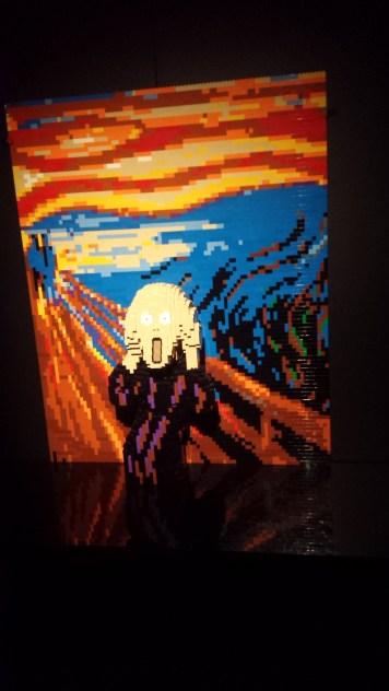 Le cri de Munch en LEGO