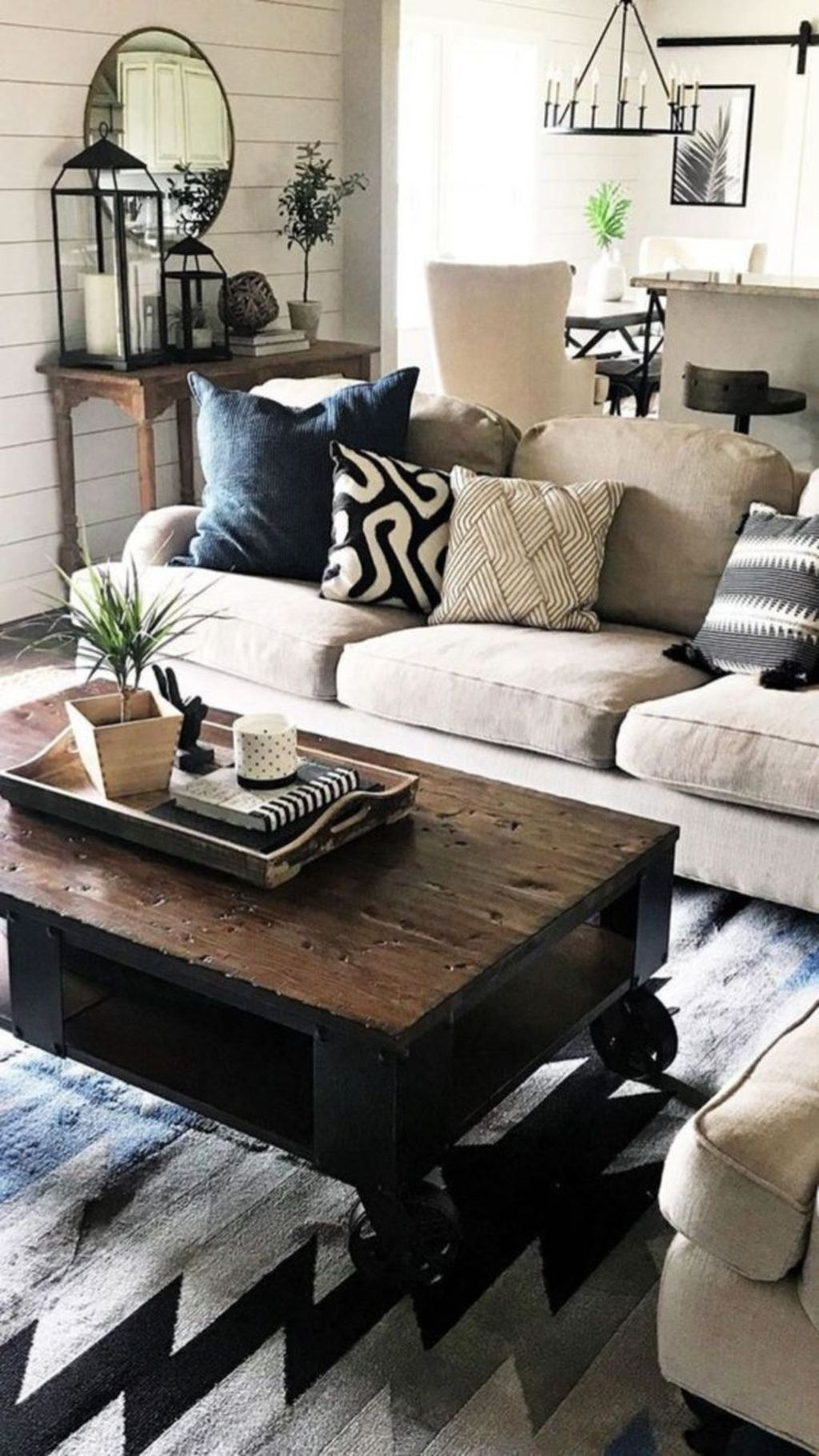 Awesome Modern Rustic Living Room Decor Ideas 22