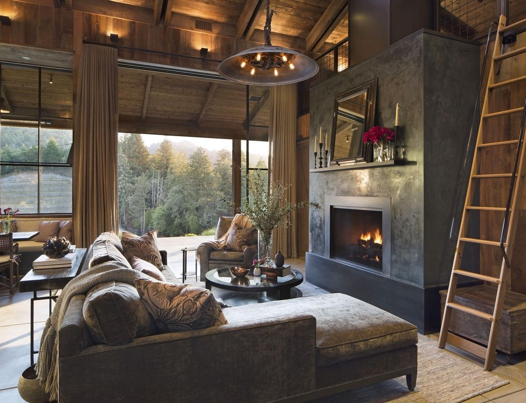 Awesome Modern Rustic Living Room Decor Ideas 39