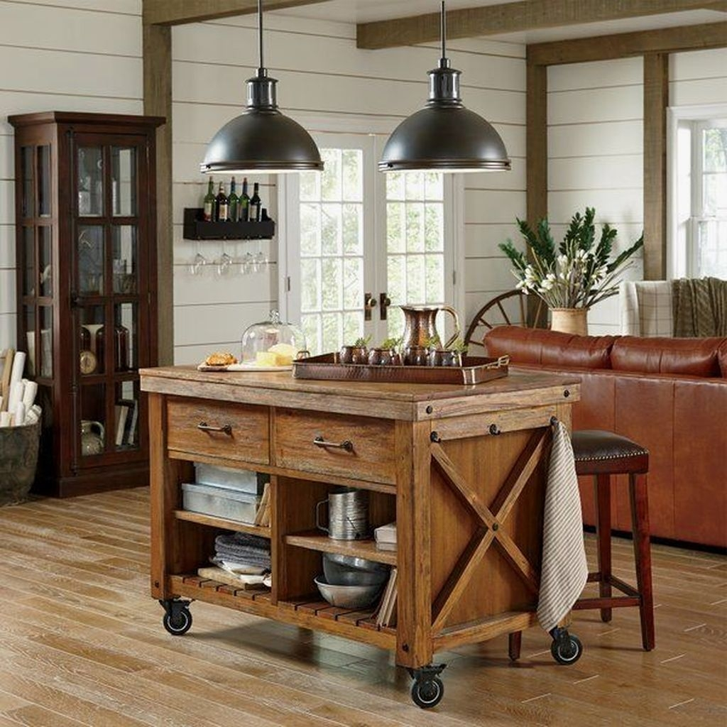 Awesome Rustic Kitchen Island Design Ideas 04