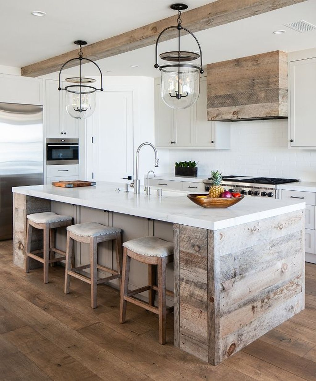 44 Awesome Rustic Kitchen Island Design Ideas - PIMPHOMEE