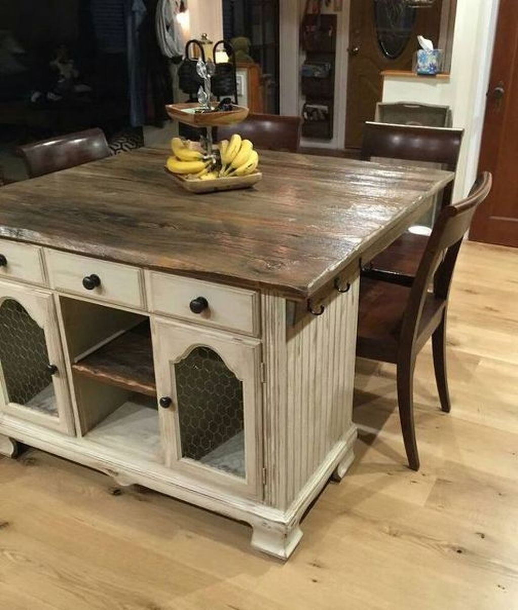 Awesome Rustic Kitchen Island Design Ideas 13