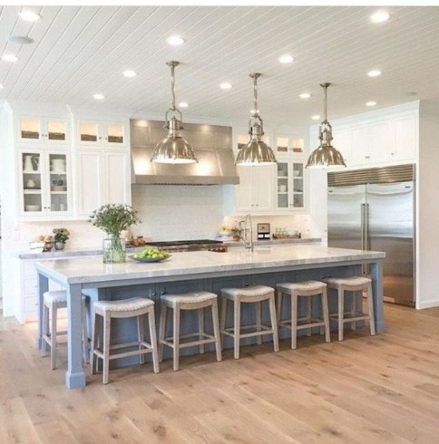 Awesome Rustic Kitchen Island Design Ideas 17