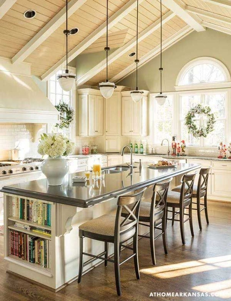 Awesome Rustic Kitchen Island Design Ideas 24
