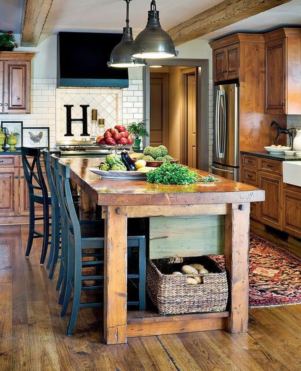 Awesome Rustic Kitchen Island Design Ideas 33