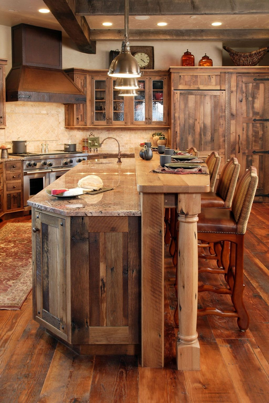 Awesome Rustic Kitchen Island Design Ideas 36