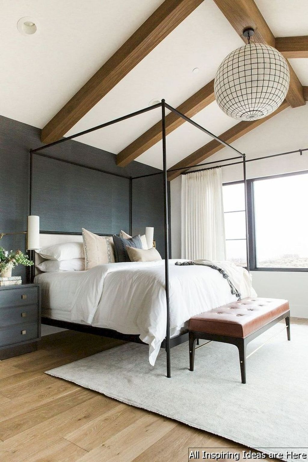Beautiful Modern Farmhouse Master Bedroom Decoration Ideas 29